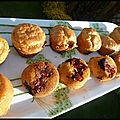 Mini-cakes tomates tapenade