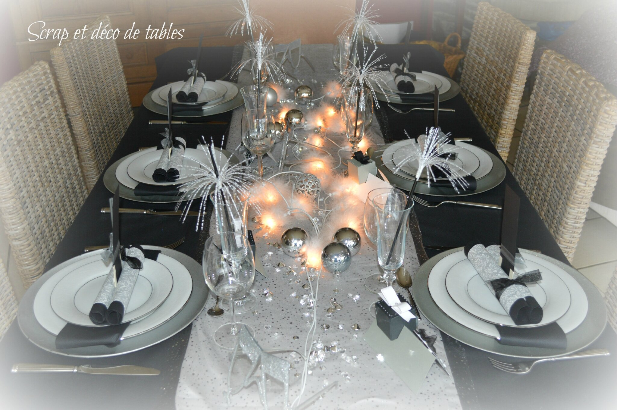 Deco de table nouvel an 2015 scrap et d co de tables - Deco de table jour de l an ...