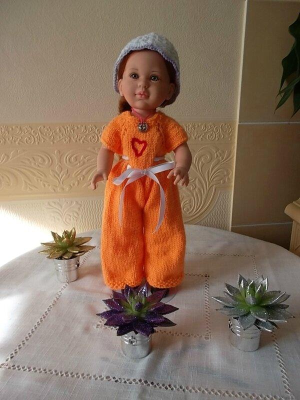 Becky & sa jolie combinaison orange Frédérique 1