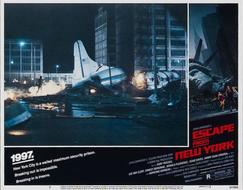 Escape from New York lobby card 5