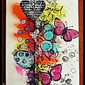 Lift de carte mixed media noel
