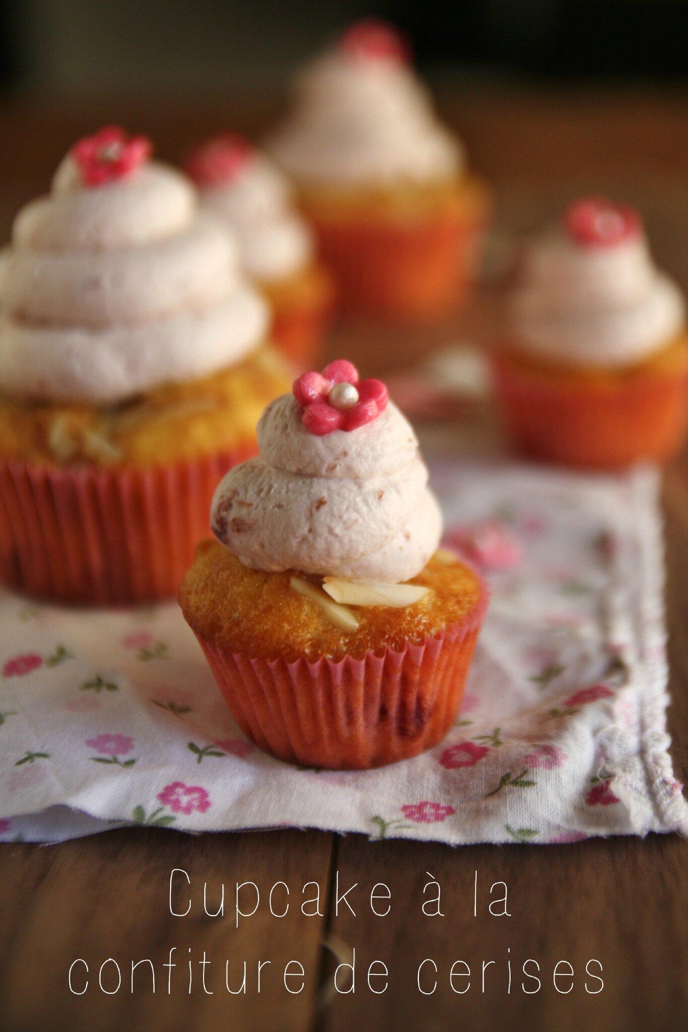 cupcake confiture cerises