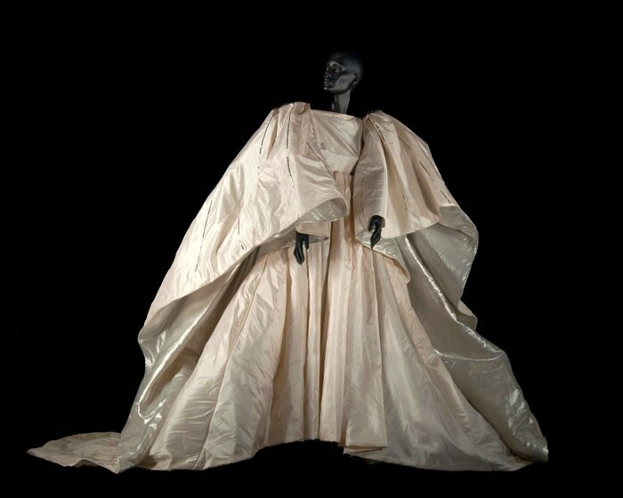 Scene dress created by Roberto Capucci for the vestal virgins of Norma by Vincenzo Bellini