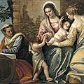 Paolo veronese, madonna and child with st. elizabeth, the infant st. john the baptist, and st. catherine, 1565-70