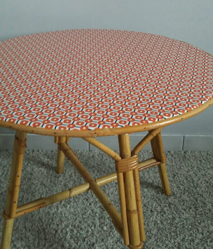 Table basse en rotin vintage be l ppi for Table basse en rotin