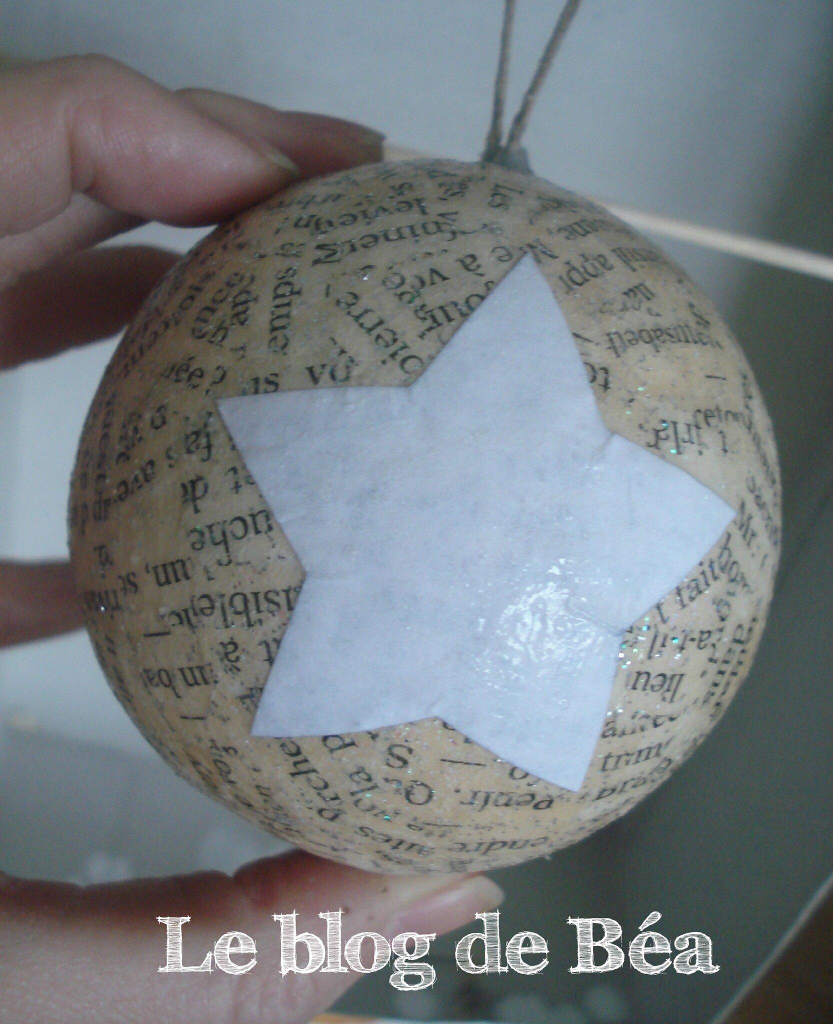 Diy boules de no l le blog de b a - Comment decorer des boules de noel en polystyrene ...
