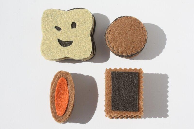 biscuits en feutrine