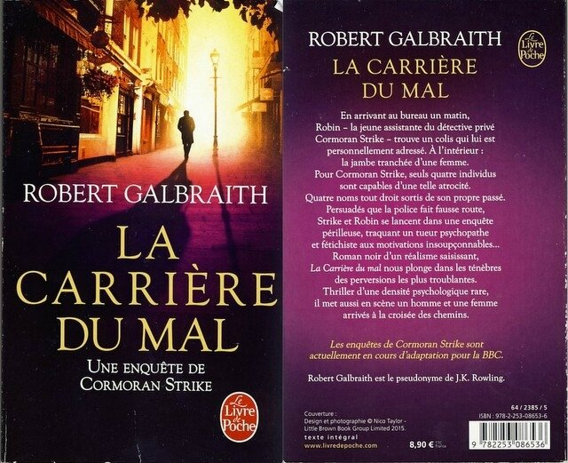4 - La carrière du mal - Robert Galbraith