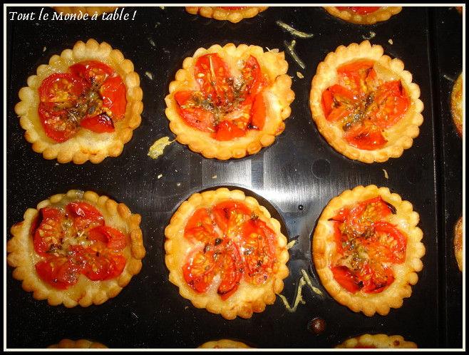 mini tartelettes tomates cerises origan