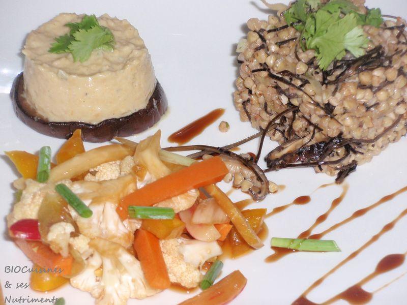 sarrasin, légumes & houmous
