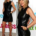 Jennifer Aniston leather minidress 216D