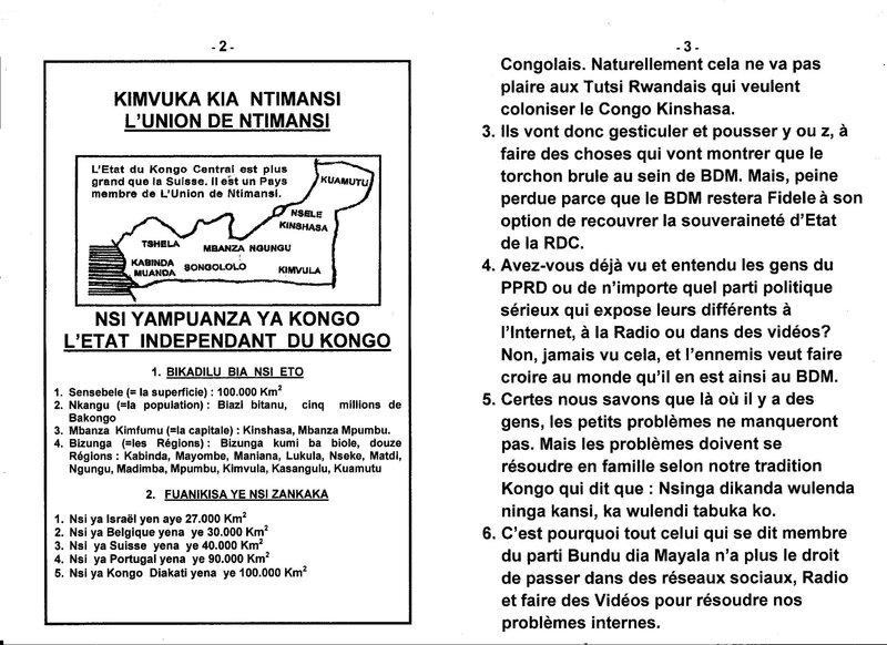 LE GRAND MAITRE DE LA SAGESSE KONGO PRODIGUE CERTAINS SAGES CONSEILS AUX MEMBRES DU PARTI BUNDU DIA MAYALA b