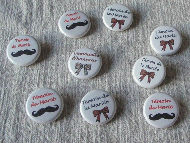 Badges-Mariage