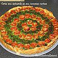 Tarte aux épinards et aux tomates cerises