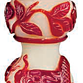 A red glass overlay double gourd-form snuff bottle, 19th century