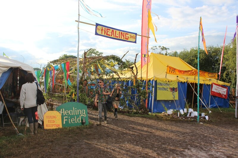 Glastonbury festival 2014 the Healing fields Green Fields