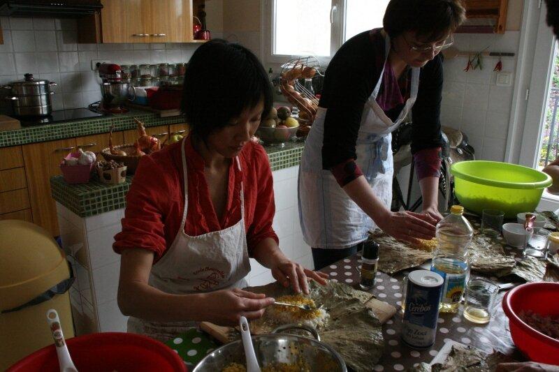 Avril 2010 cours feuilles de lotus et de bananier farcies - Cours cuisine asiatique ...