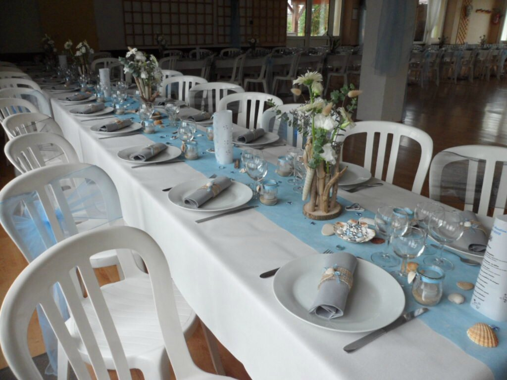 Mariage th me plage les tables de martine Centre table mariage plage idees