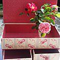 Boutons de roses et boutons confectionnés en tissus