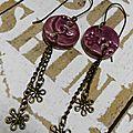 Boucles d'oreille, céramique et métal