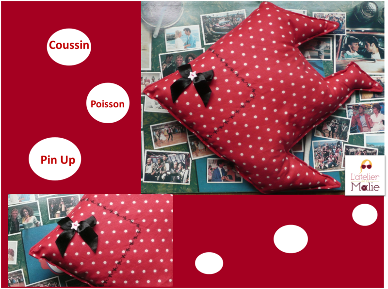coussin poisson pin up