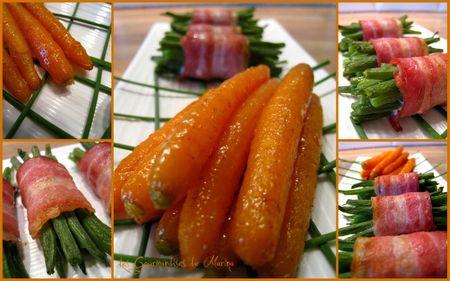 carottes glacées au miel - haricots lardés
