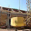Arfeuilles (charpente d'un corps de bâtiment en u, maison, garage, grange).
