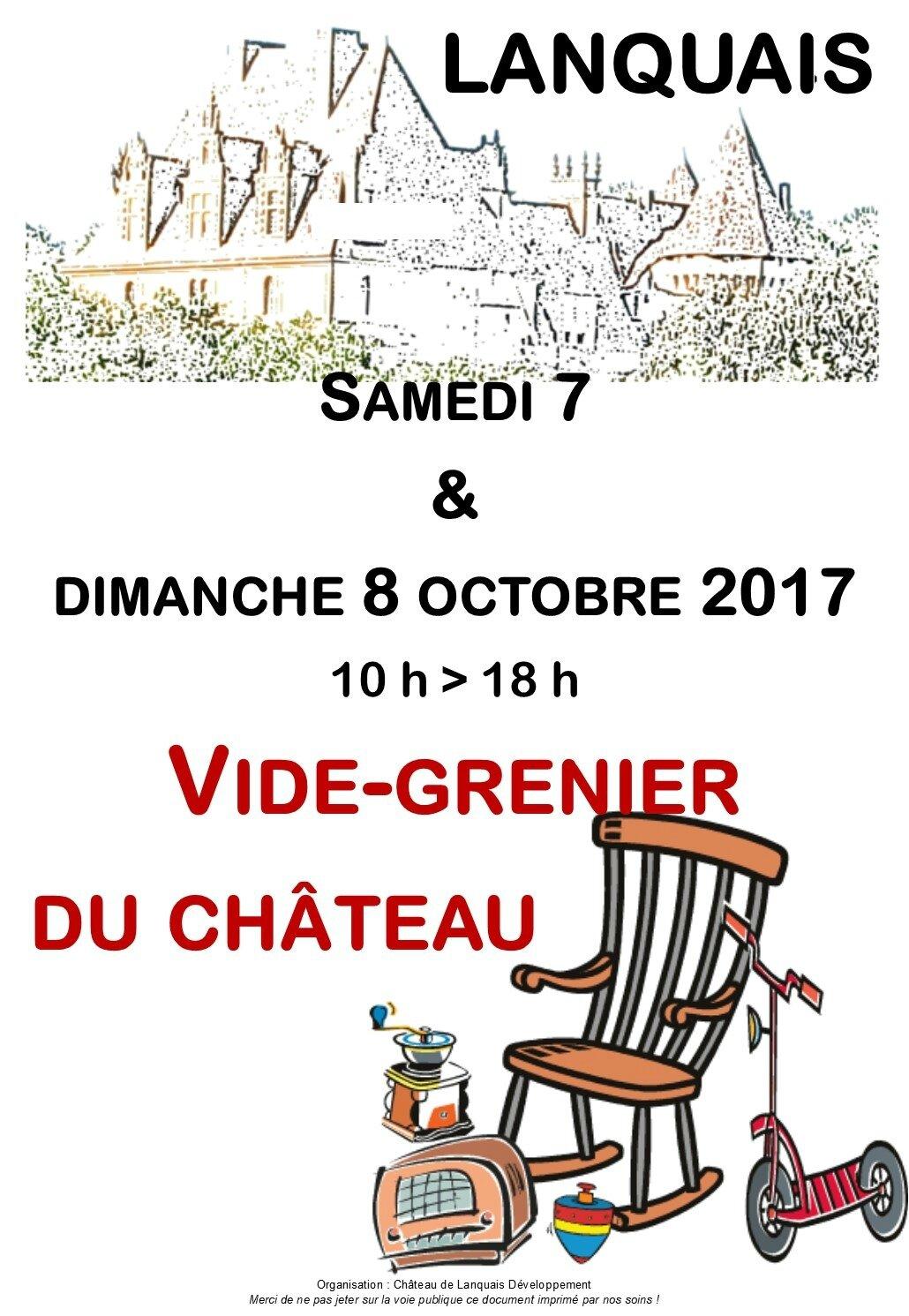 Vide-grenier du château de Lanquais
