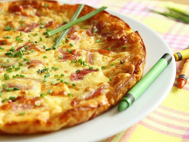 Quiche lorraine sans p te blogs de cuisine for Cuisine quiche lorraine