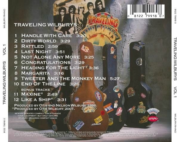Quot Traveling Wilburys Vol 1 Quot Traveling Wilburys Rock Fever