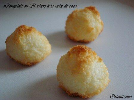 Congolais ou Rochers à la noix de coco