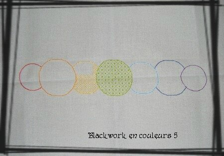 Blackwork en couleurs 5