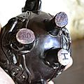 pot a décor de chien fo de dragon et bouddha