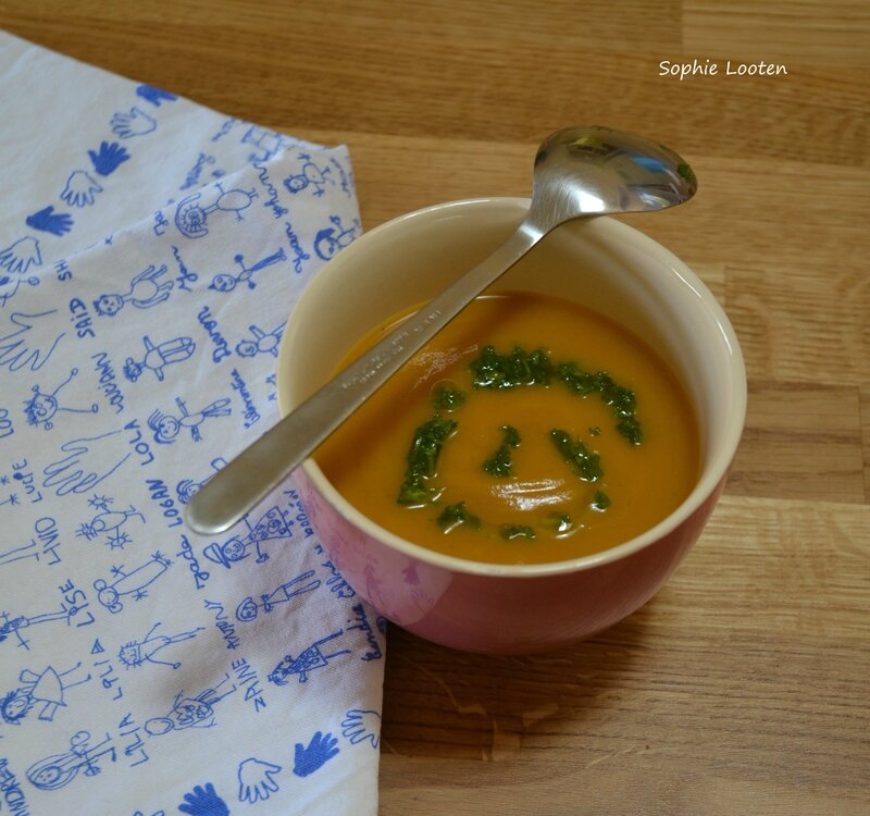 Soupe courge butternut pdt persil2