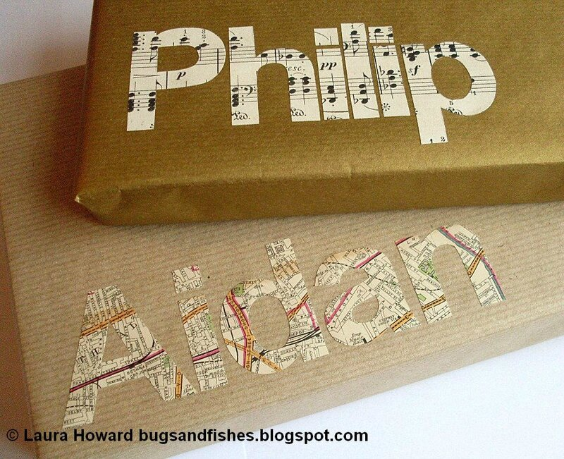 typography gift wrap 4