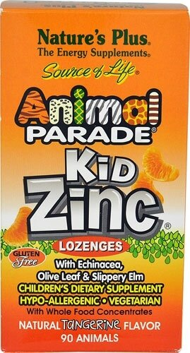 Natures-Plus-Animal-Parade-KidZinc-Lozenges-Tangerine-097467299641
