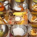 Verrine de bûche de noël à l'orange ,grand marnier et mousse chocolat