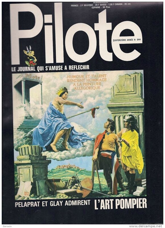 Pilote Couverture 1972 Peter Glay