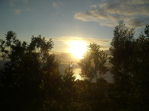 Lever de soleil, à la sortie de la tente