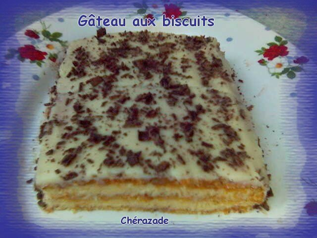 Gâteau aux biscuits