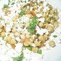 1ère présentation : la salade d'été aux pois chiches de jamie