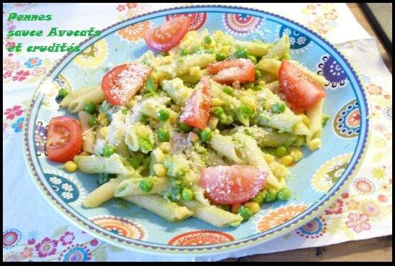"""ღ """" Miam """" Pennes sauce Avocats"""