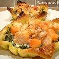 Tartelette feuilletée de saumon-épinard, son astuce et... son secret !