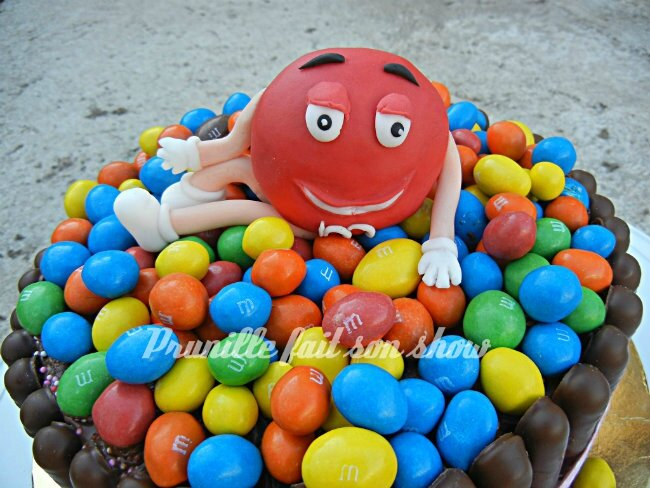 m&m's gateau cake prunillefee