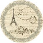 DFEL Etiquette Ronde Paris Retro