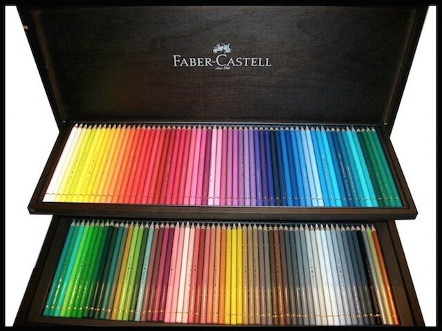 crayons de couleur polychromos coffret bois weng 120 pi ces faber castell le blog de moon. Black Bedroom Furniture Sets. Home Design Ideas