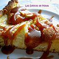 Tarte aux pommes à l'amaretto et caramel au beurre salé