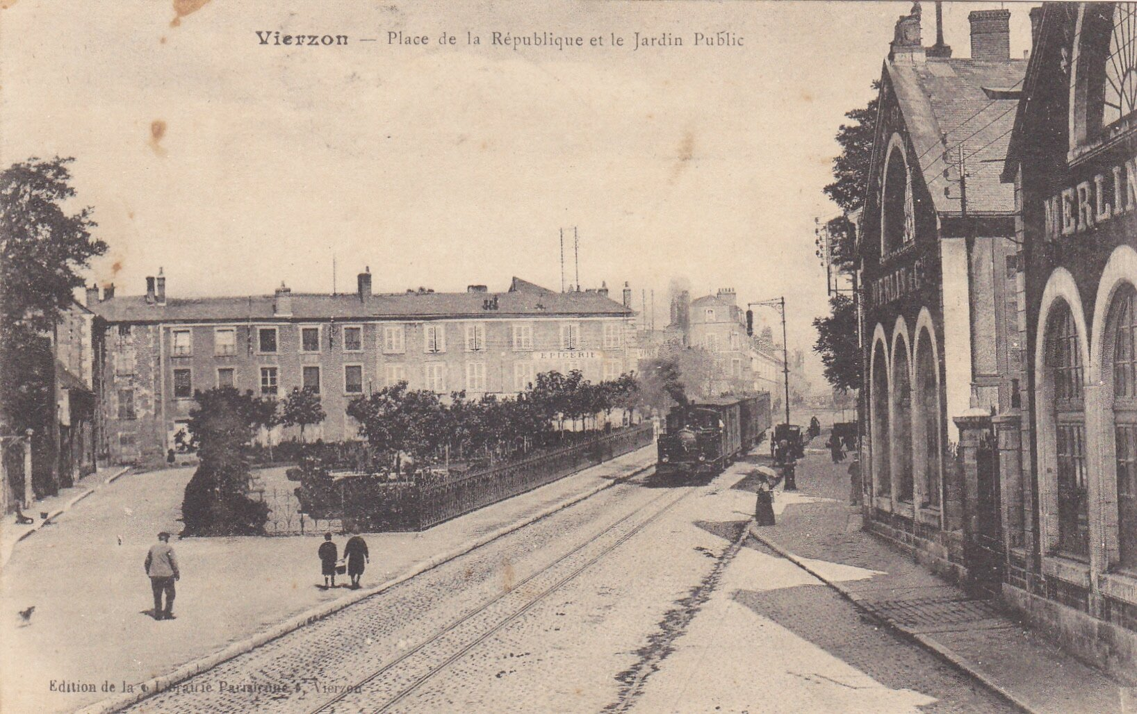 Carte postale ancienne vierzon antiquit s du vingti me for O architecture brest