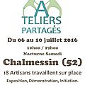 ATELIERS PARTAGES CHALMESSIN