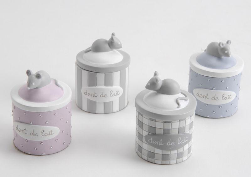 coffret de 4 boite dents de lait amadeus le monde de l. Black Bedroom Furniture Sets. Home Design Ideas